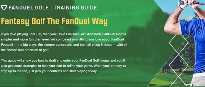 fanduel golf strategy