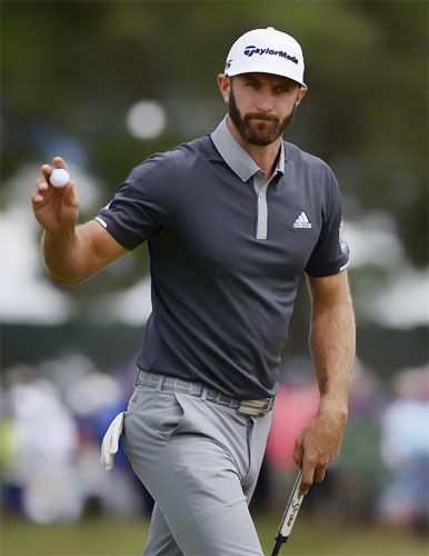 golf dustin johnson